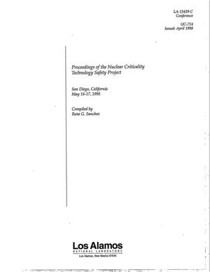 Primary view of object titled 'Proceedings of the Nuclear Criticality Technology Safety Workshop'.
