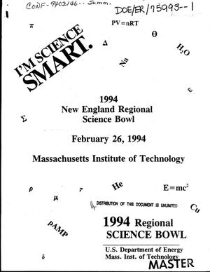 Primary view of object titled '1994 New England Regional Science Bowl [held at] Massachusetts Institute of Technology, February 26, 1994'.