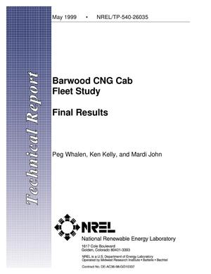 Primary view of object titled 'Barwood CNG Cab Fleet Study: Final Results'.