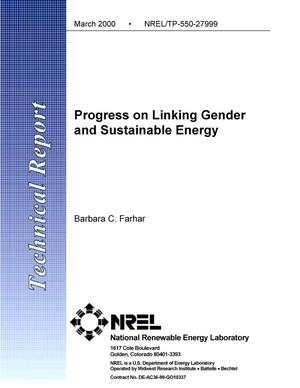 Primary view of object titled 'Progress on linking gender and sustainable energy'.