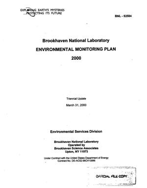 Primary view of object titled 'BROOKHAVEN NATIONAL LABORATORY ENVIRONMENTAL MONITORING PLAN'.