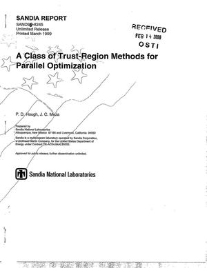 Primary view of object titled 'A class of trust-region methods for parallel optimization'.