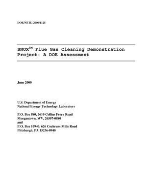 Primary view of object titled 'SNOX flue gas cleaning demonstration project: A DOE assessment'.