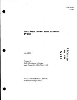 Primary view of object titled 'Tanks Focus Area site needs assessment FY 2000'.