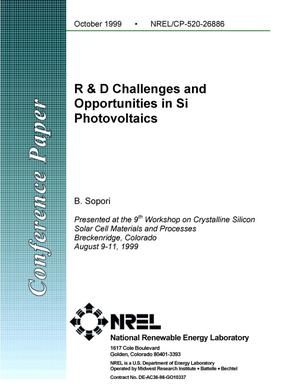 Primary view of object titled 'R and D challenges and opportunities in Si photovoltaics'.