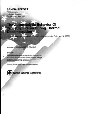 Primary view of object titled 'The Autocatalytic Behavior of Trimethylindium During Thermal Decomposition'.
