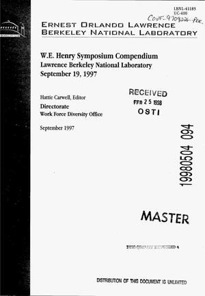 Primary view of object titled 'W.E. Henry Symposium compendium: The importance of magnetism in physics and material science'.