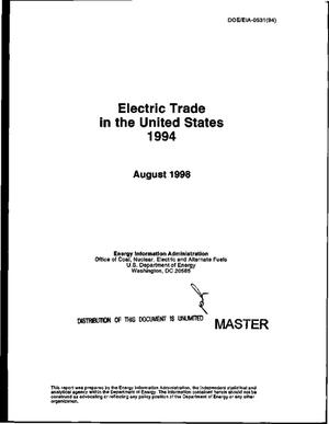 Primary view of object titled 'Electric trade in the United States 1994'.
