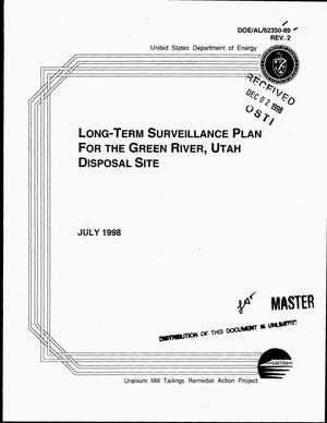 Primary view of object titled 'Long-term surveillance plan for the Green River, Utah disposal site. Revision 2'.