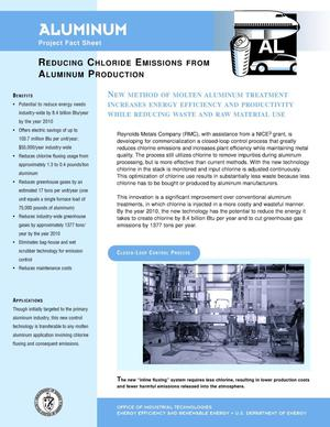 Primary view of object titled 'Aluminum: Reducing chloride emissions from aluminum production'.