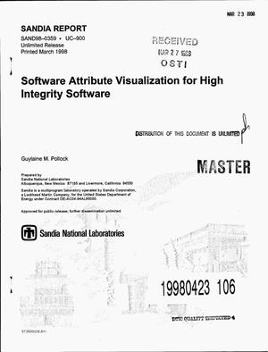 Primary view of object titled 'Software attribute visualization for high integrity software'.