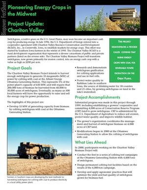 Primary view of object titled 'Pioneering energy crops in the Midwest, project update: Chariton Valley'.