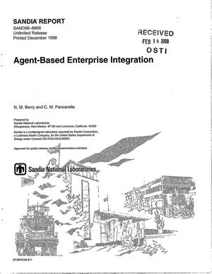 Primary view of object titled 'Agent-based enterprise integration'.