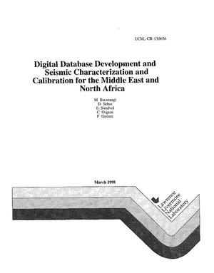 Primary view of object titled 'Digital database development and seismic characterization and calibration for the middle east and North Africa'.