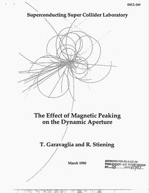 Primary view of object titled 'The effect of magnetic peaking on the dynamic aperture'.