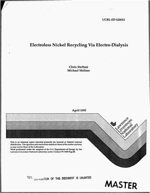 Primary view of object titled 'Electroless nickel recycling via electrodialysis'.