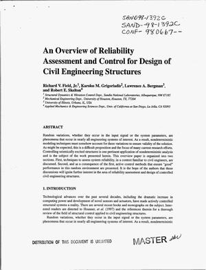 Primary view of object titled 'An overview of reliability assessment and control for design of civil engineering structures'.