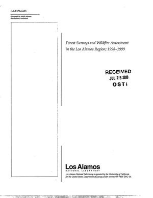 Primary view of object titled 'Forest surveys and wildfire assessment in the Los Alamos Region; 1998-1999'.