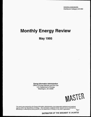 Primary view of object titled 'Monthly energy review, May 1995'.