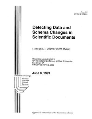 Primary view of object titled 'Detecting data and schema changes in scientific documents'.