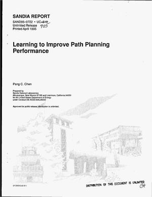 Primary view of object titled 'Learning to improve path planning performance'.