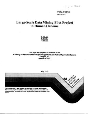 Primary view of object titled 'Large-scale data mining pilot project in human genome'.