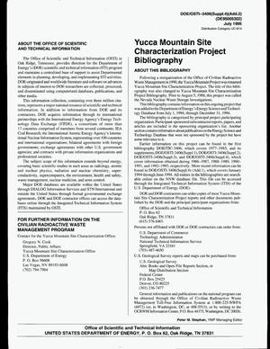 Primary view of object titled 'Yucca Mountain Site Characterization Project Bibliography, July--December 1994: An update'.
