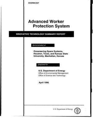 Primary view of object titled 'Innovative technology summary report: advanced worker protection system'.