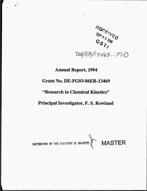Primary view of object titled 'Research in chemical kinetics. Annual report, 1994'.