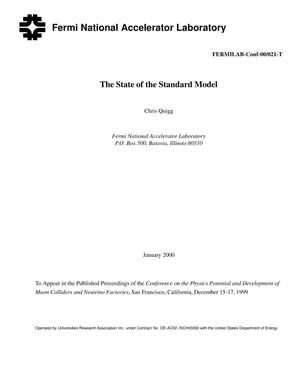 Primary view of object titled 'The state of the standard model'.
