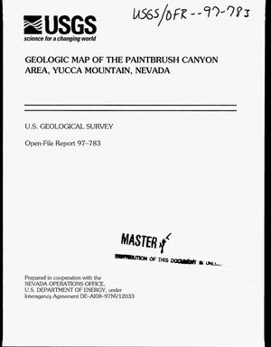 Primary view of object titled 'Geologic map of the Paintbrush Canyon Area, Yucca Mountain, Nevada'.