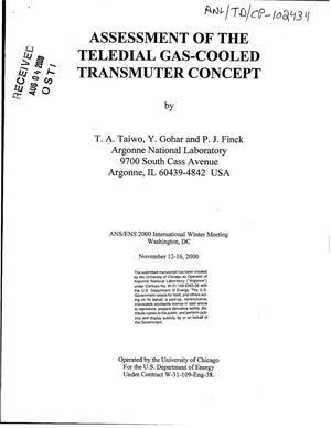 Primary view of object titled 'Assessment of the teledial gas-cooled transmuter concept'.