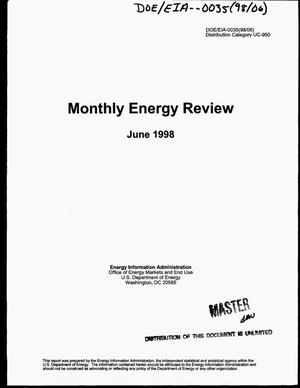 Primary view of object titled 'Monthly energy review, June 1998'.