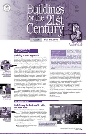 Primary view of object titled 'Buildings for the 21st Century Newsletter: Fall 1999, Vol. 2, No. 1'.