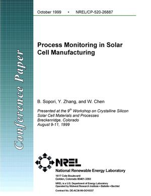 Primary view of object titled 'Process monitoring in solar cell manufacturing'.