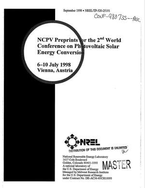 Primary view of object titled 'NCPV preprints for the 2. world conference on photovoltaic solar energy conversion'.