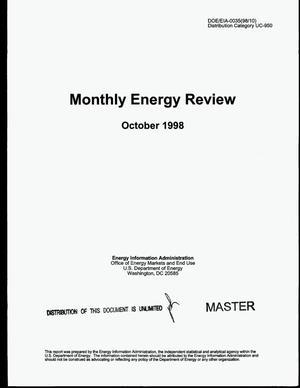 Primary view of object titled 'Monthly energy review, October 1998'.