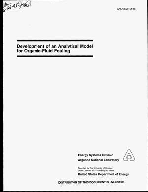 Primary view of object titled 'Development of an analytical model for organic-fluid fouling'.
