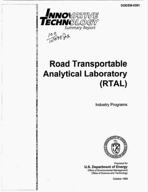 Primary view of object titled 'Innovative technology summary report: Road Transportable Analytical Laboratory (RTAL)'.