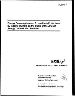 Primary view of object titled 'Energy consumption and expenditure projections by income quintile on the basis of the Annual Energy Outlook 1997 forecast'.