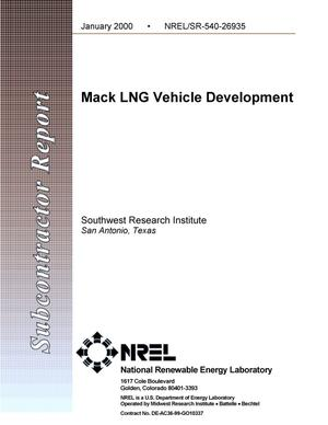 Primary view of object titled 'Mack LNG vehicle development'.