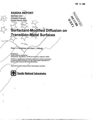 Primary view of object titled 'Surfactant-modified diffusion on transition-metal surfaces (reprinted with the addition of the appendices)'.