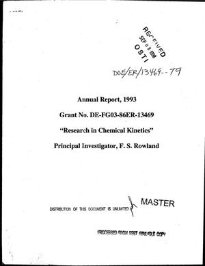 Primary view of object titled 'Research in chemical kinetics. Annual report, 1993'.