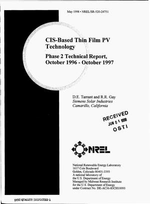 Primary view of object titled 'CIS-based thin film PV technology. Phase 2 technical report, October 1996--October 1997'.