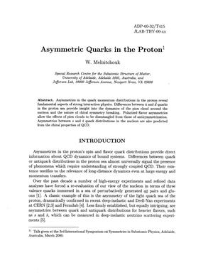 Primary view of object titled 'Asymmetric quarks in the proton'.