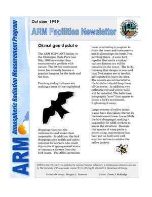 Primary view of object titled 'Atmospheric Radiation Measurement Program facilities newsletter, October 1999'.