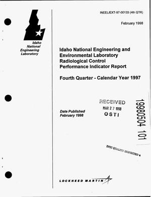 Primary view of object titled 'Idaho National Engineering and Environmental Laboratory Radiological Control Performance Indicator Report; Fourth Quarter - Calendar Year 1997'.