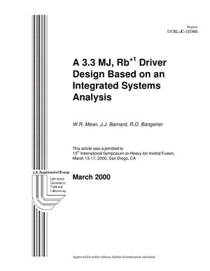 Primary view of object titled 'A 3.3 MJ, Rb + 1 driver design based on an integrated systems analysis'.