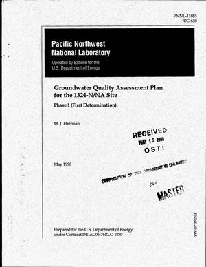 Primary view of object titled 'Groundwater quality assessment plan for the 1324-N/NA Site: Phase 1 (first determination)'.