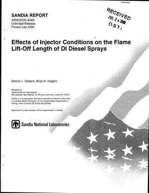 Primary view of object titled 'Effects of Injector Conditions on the Flame Lift-Off Length of DI Diesel Sprays'.